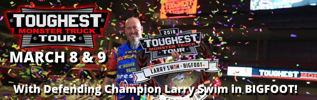 Monster Trucks 2019 Champion Larry Swim Banner